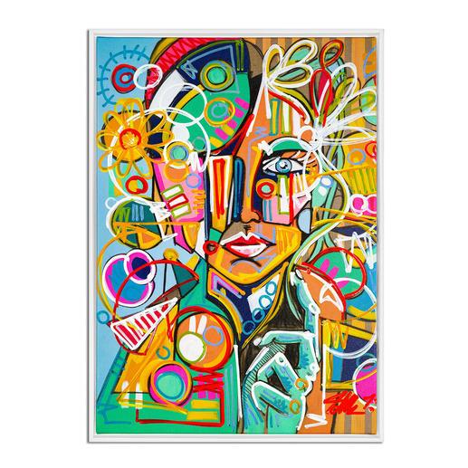 David Tollmann – Happy Lady David Tollmann: Unverwechselbare Kunst in dritter Generation. Erste Leinwand-Edition. Handübermalt. 50 Exemplare. Maße: gerahmt 74 x 104 cm