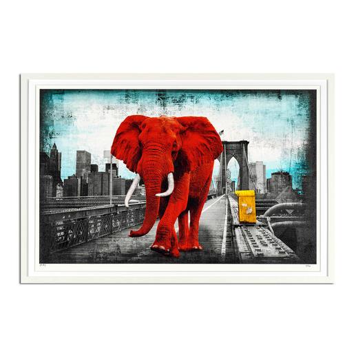 Lars Tunebo – Tripping on Brooklyn Bridge - Lars Tunebos handkolorierte Unikatserie. Neueste Edition exklusiv bei Pro-Idee. 40 Exemplare. Maße: gerahmt 90 x 60 cm