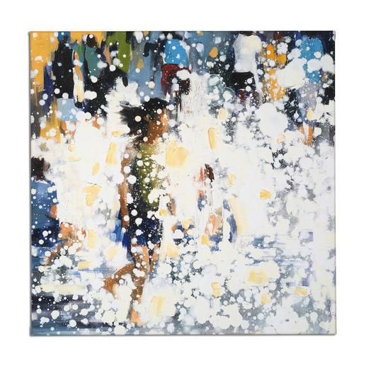 Renata Tumarova – The Flow Renata Tumarova editiert exklusiv für Pro-Idee ihr bisher nicht veröffentlichtes Werk. Von der Künstlerin übermalt. 40 Exemplare. Maße: 80 x 80 cm