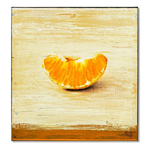 Michael Lauterjung  – Kleine Clementine. Michael Lauterjung: Pionier der zeitgenössischen Kunst. Neueste Edition exklusiv bei Pro-Idee (die erste ist bereits ausverkauft). Mit bis zu 5 mm dicker Firniss. 30 Exemplare. Maße: 90 x 95 cm