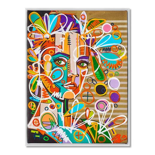 David Tollmann – Goldener Käfig II - David Tollmann: Unverwechselbare Kunst in dritter Generation. Neueste Leinwand-Edition. Handübermalt. 49 Exemplare. Maße: gerahmt 79 x 104 cm