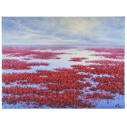 Pei Lian Zhi – Original far away Pei Lian Zhi: In mehr als 200 Sammlungen vertreten. Jetzt auch in Ihrer? Einzigartiges Ölgemälde mit bis zu 1 cm hohem Farbauftrag. Maße: 120 x 90 cm