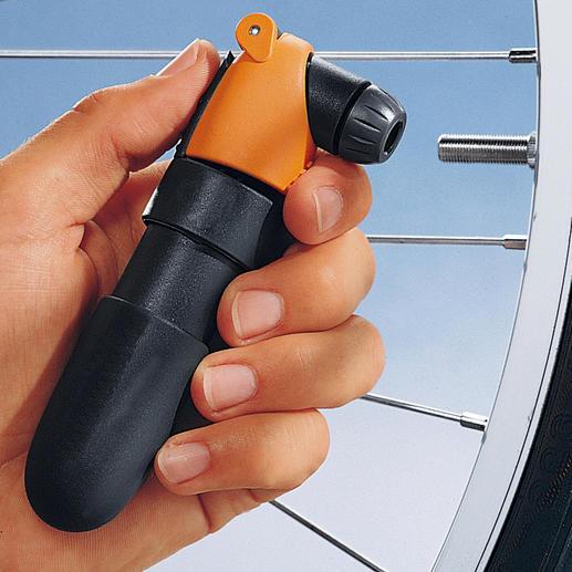Airchamp Einfaches Nachpumpen ohne Kraftaufwand.