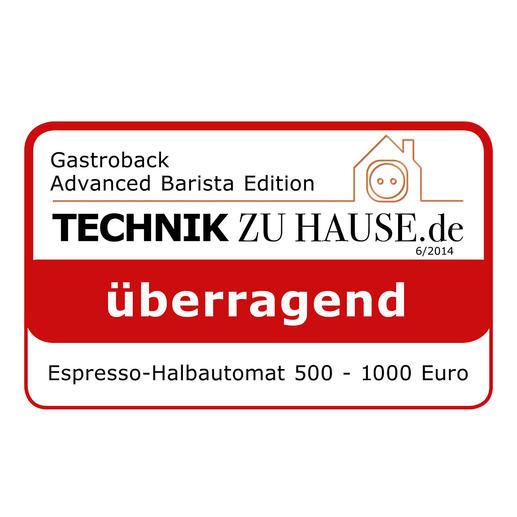 gastroback design espresso maschine advanced pro gs inkl. Black Bedroom Furniture Sets. Home Design Ideas