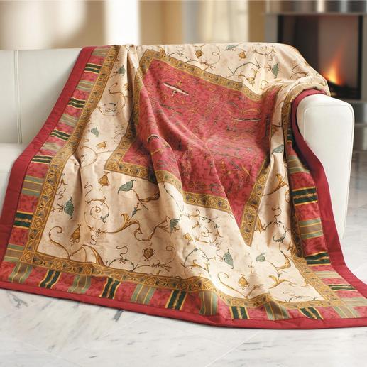 """Granfoulard®-Textilien """"Oplontis"""" - Traumschön als prachtvolles Plaid, edle Bettwäsche und dekorative Tischwäsche."""