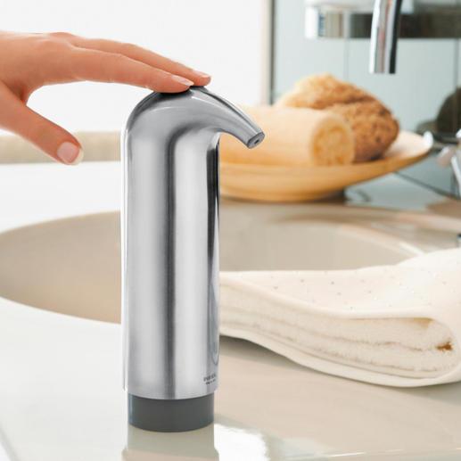 """Design Seifenspender - Schöner, sauberer, hygienischer: ohne Ecken und Kanten. Ausgezeichnet mit dem """"iF Product Design Award"""" 2008."""