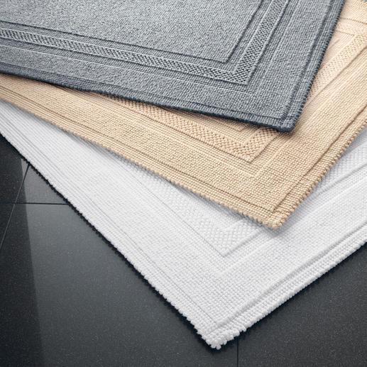 Passend zu jeder Bad-Einrichtung: Den Fusselfreien Badvorleger gibt es in 4 aktuellen Farben.