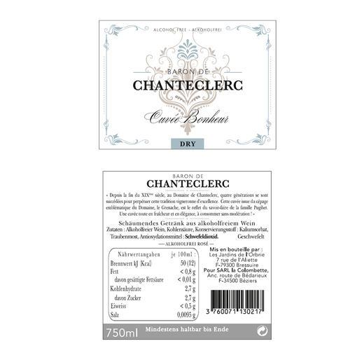 Baron de Chanteclerc 2016, Domaine La Colombette, Languedoc, Frankreich Der einzige alkoholfreie Sekt, den wir Ihnen empfehlen.