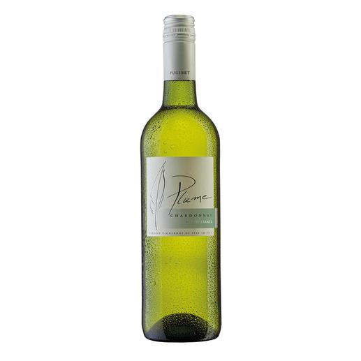 Plume Chardonnay 2015, Domaine La Colombette, Vin de  Pays des Coteaux du Libron, Frankreich - Genuss ohne Reue. Nur 9 % Alkohol. Aber 100 % Genuss.