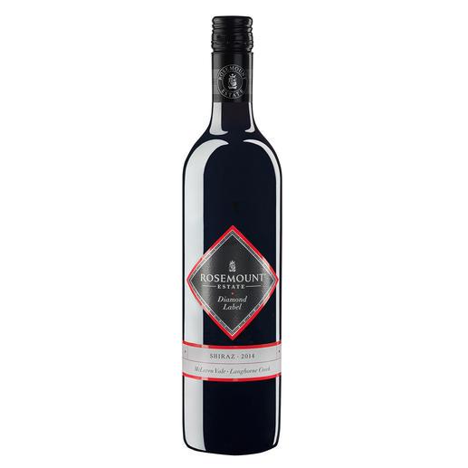 """Shiraz Rosemount Diamond Label 2014, Rosemount Estate, Australien - """"Wir könnten diesen Wein in jedem Jahr in unserer Top-100-Liste lassen."""" (Wine Spectator, 12/1994)"""