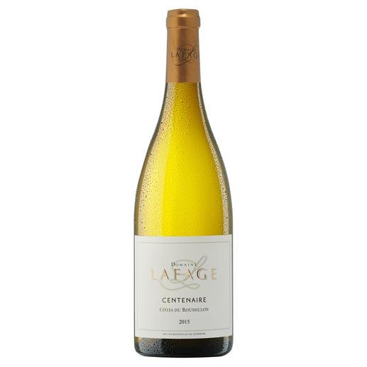 """Centenaire Blanc 2015, Domaine Lafage, Languedoc-Roussillon, Frankreich - """"Zählt zu den besten Weißweinen der Welt. 93 Punkte"""" (Robert Parker über den Jahrgang 2013, www.robertparker.com, Wine Advocate 212, 04/2014)"""