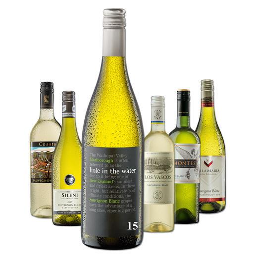 """Testpaket der Nominierten """"Übersee-Sauvignon Blanc bis 10 Euro, Juni 2016"""" - Pro-Idee Wine Competition"""