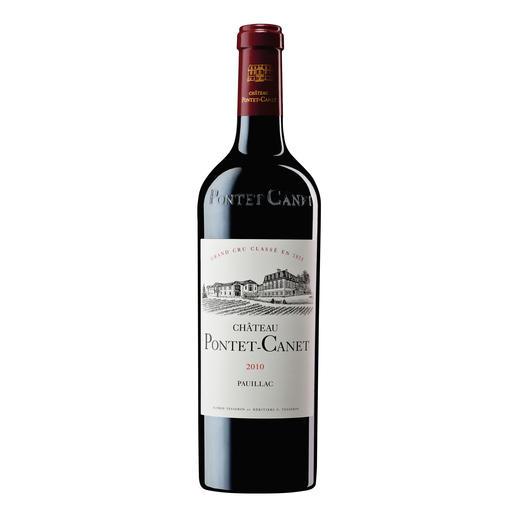 """Pontet Canet 2010, 5ème Grand Cru Classé, Pauillac, Bordeaux, Frankreich - """"Es ist ein Privileg, einen solch erstaunlichen Wein kosten zu dürfen. 100 Punkte."""" (Robert Parker, Wine Advocate 205, 02/2013)"""