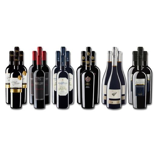 """Weinsammlung """"Die kleine Rotwein-Sammlung für anspruchsvolle Genießer Frühjahr 2017"""", 24 Flaschen - Wenn Sie einen kleinen, gut gewählten Weinvorrat anlegen möchten, ist dies jetzt besonders leicht."""