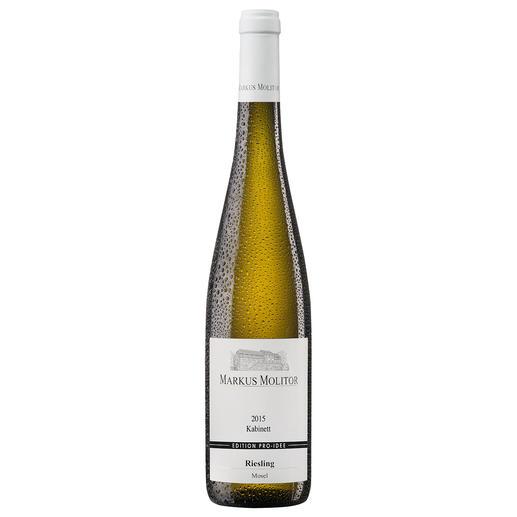 """Molitor Kabinett """"Edition Pro-Idee"""" 2015, Markus Molitor, Wehlen, Mosel, Deutschland Eine bessere Qualitätsgarantie haben wir noch nicht gefunden. Der neue Wein von Markus Molitor."""