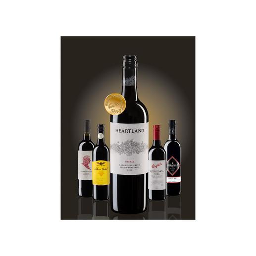 """Testpaket der Nominierten """"Shiraz bis 15 Euro, Oktober 2016"""" Pro-Idee Wine Competition"""