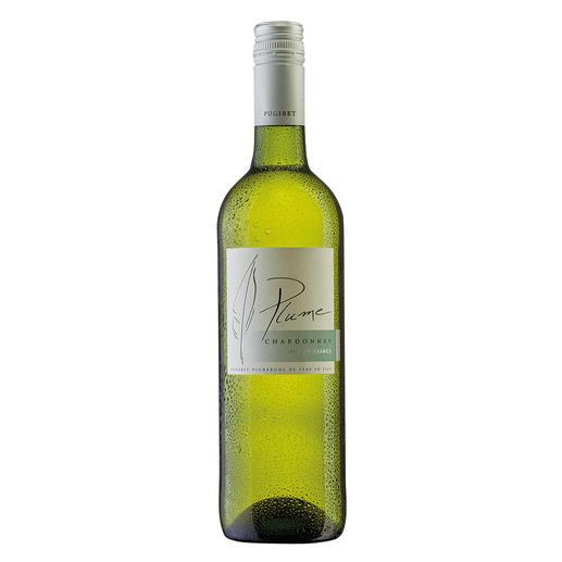 Plume Chardonnay 2016, Domaine La Colombette, Vin de  Pays des Coteaux du Libron, Frankreich Genuss ohne Reue. Nur 9 % Alkohol. Aber 100 % Genuss.