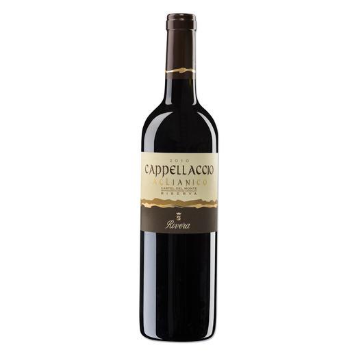 """Cappellaccio 2010, Vinicola Rivera S.p.A., Andria, Castel del Monte, Italien - """"Vergleichbar mit Weinen, die 40 US$ kosten."""" (Robert Parker, Wine Advocate 226, 08/2016)"""