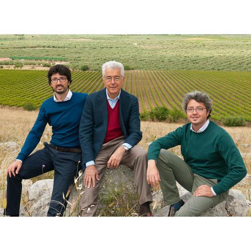 Weinmacher Carlo de Corato und seine Söhne