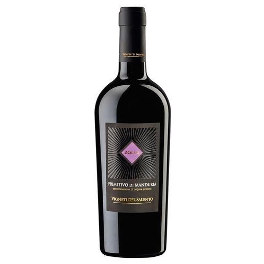 "Zolla Primitivo di Manduria 2015, Vigneti del Salento, Apulien, Italien, Rotwein Im Jahrgang 2013 der ""beste Rotwein Italiens.""* Im Jahrgang 2015 noch besser? *(Mundus Vini, Frühjahrsverkostung 2014, www.mundusvini.com)"