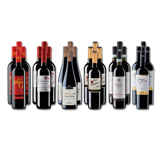 """Weinsammlung """"Die kleine Rotwein-Sammlung Sommer 2017"""", 24 Flaschen Wenn Sie einen kleinen, gut gewählten Weinvorrat anlegen möchten, ist dies jetzt besonders leicht."""
