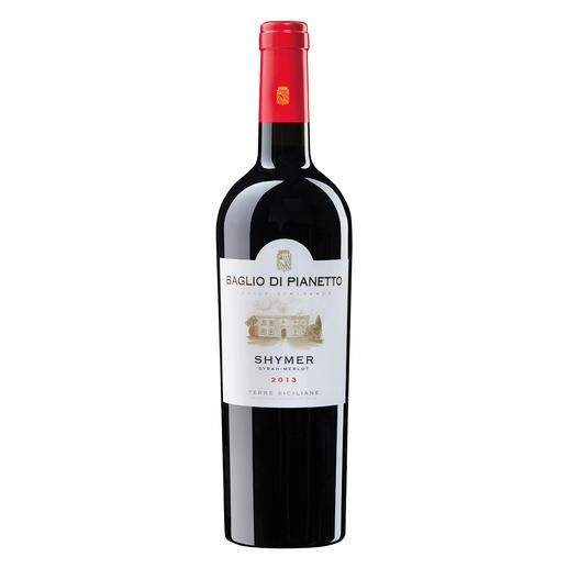 Shymer 2013, Baglio di Pianetto, Sizilien, Italien - 91 Punkte von Robert Parker. (Wine Advocate 226, 08/2016)  3 Gläser im Gambero Rosso 2017.