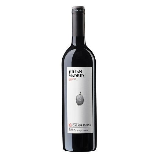 "Julian Madrid Reserva 2011, Bodegas Casa Primicia, Rioja Alavesa, Spanien Die beste ""Rioja Reserva"". Unter 80 Konkurrenten. (Mundus Vini Frühjahrsverkostung 2017 (www.mundusvini.com))"