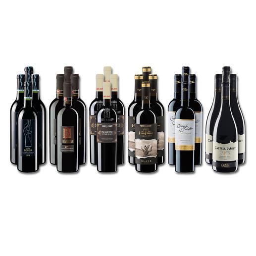 """Weinsammlung """"Die kleine Rotwein-Sammlung Winter 2017"""", 24 Flaschen - Wenn Sie einen kleinen, gut gewählten Weinvorrat anlegen möchten, ist dies jetzt besonders leicht."""