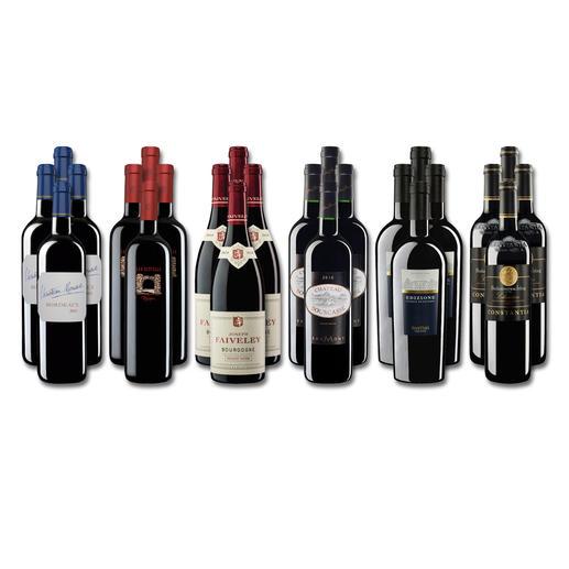 """Weinsammlung """"Die kleine Rotwein-Sammlung für anspruchsvolle Genießer Winter 2017"""", 24 Flaschen - Wenn Sie einen kleinen, gut gewählten Weinvorrat anlegen möchten, ist dies jetzt besonders leicht."""