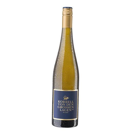 """Riesling von den großen Lagen 2015, Weingut Korrell Johanneshof, Nahe, Deutschland Vier """"Große Lagen"""" – ein großer Wein."""