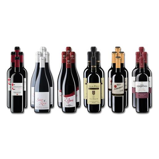 """Weinsammlung """"Die kleine Rotwein-Sammlung Frühjahr 2018"""", 24 Flaschen - Wenn Sie einen kleinen, gut gewählten Weinvorrat anlegen möchten, ist dies jetzt besonders leicht."""