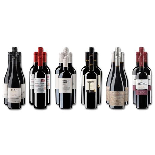 """Weinsammlung """"Die kleine Rotwein-Sammlung Frühjahr/Sommer 2018"""", 24 Flaschen - Wenn Sie einen kleinen, gut gewählten Weinvorrat anlegen möchten, ist dies jetzt besonders leicht."""