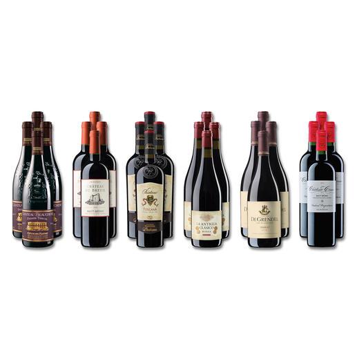 """Weinsammlung """"Die kleine Rotwein-Sammlung für anspruchsvolle Genießer Frühjahr/Sommer 2018"""", 24 Flaschen Wenn Sie einen kleinen, gut gewählten Weinvorrat anlegen möchten, ist dies jetzt besonders leicht."""