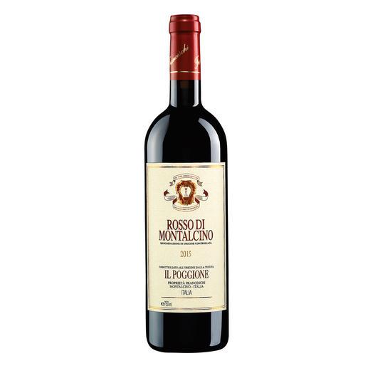 Rosso di Montalcino 2015, Tenuta Il Poggione, Toskana, Italien - In einigen Jahren wird der Wein von diesen Reben deutlich mehr als das Doppelte kosten.