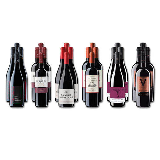 """Weinsammlung """"Die kleine Rotwein-Sammlung für anspruchsvolle Genießer Sommer 2018"""", 24 Flaschen Wenn Sie einen kleinen, gut gewählten Weinvorrat anlegen möchten, ist dies jetzt besonders leicht."""