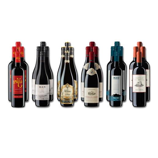 """Weinsammlung """"Die kleine Rotwein-Sammlung Herbst 2018"""", 24 Flaschen - Wenn Sie einen kleinen, gut gewählten Weinvorrat anlegen möchten, ist dies jetzt besonders leicht."""