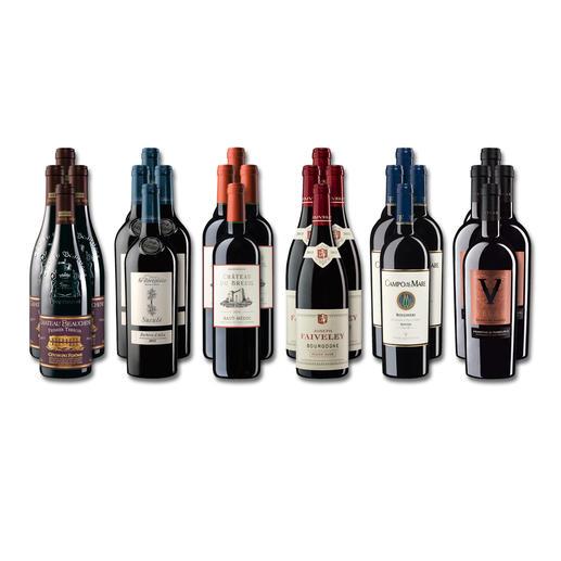 """Weinsammlung """"Die kleine Rotwein-Sammlung für anspruchsvolle Genießer Herbst 2018"""", 24 Flaschen - Wenn Sie einen kleinen, gut gewählten Weinvorrat anlegen möchten, ist dies jetzt besonders leicht."""