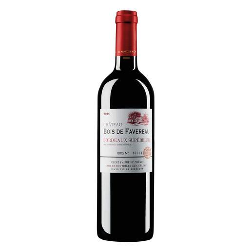Château Bois de Favereau 2015, Bordeaux Superieur, Frankreich Endlich ein samtweicher, sofort trinkreifer (und erfreulich preiswerter) Bordeaux.