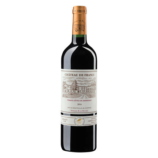 Château de Francs 2016, Francs, Bordeaux, Frankreich - Der bezahlbare Bordeaux mit dem Know-how von Château Cheval Blanc.