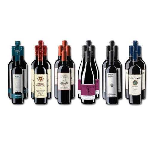 """Weinsammlung """"Die kleine Rotwein-Sammlung für anspruchsvolle Genießer Winter 2018"""", 24 Flaschen - Wenn Sie einen kleinen, gut gewählten Weinvorrat anlegen möchten, ist dies jetzt besonders leicht."""