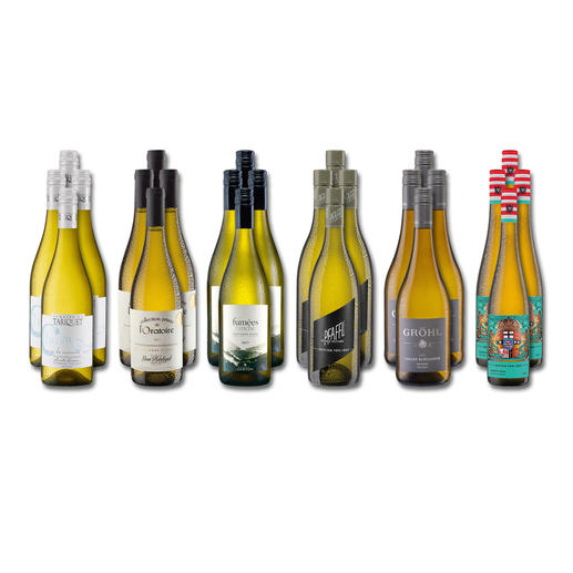 """Weinsammlung """"Die kleine Weißwein-Sammlung Frühjahr 2019"""", 24 Flaschen - Wenn Sie einen kleinen, gut gewählten Weinvorrat anlegen möchten, ist dies jetzt besonders leicht."""