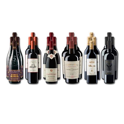 """Weinsammlung """"Die kleine Rotwein-Sammlung für anspruchsvolle Genießer Frühjahr 2019"""", 24 Flaschen Wenn Sie einen kleinen, gut gewählten Weinvorrat anlegen möchten, ist dies jetzt besonders leicht."""