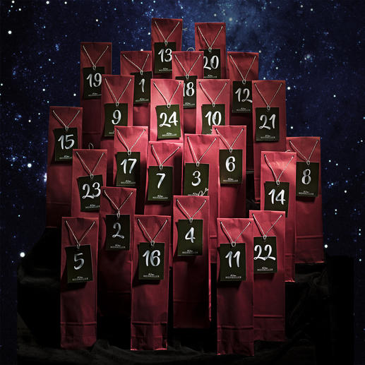 Wein-Adventskalender 2019 24 besonders gute Weine für die Adventszeit.