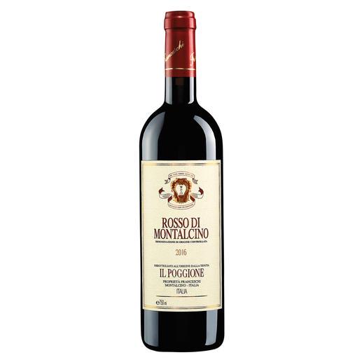 Rosso di Montalcino 2016, Tenuta Il Poggione, Toskana, Italien In einigen Jahren wird der Wein von diesen Reben deutlich mehr als das Doppelte kosten.