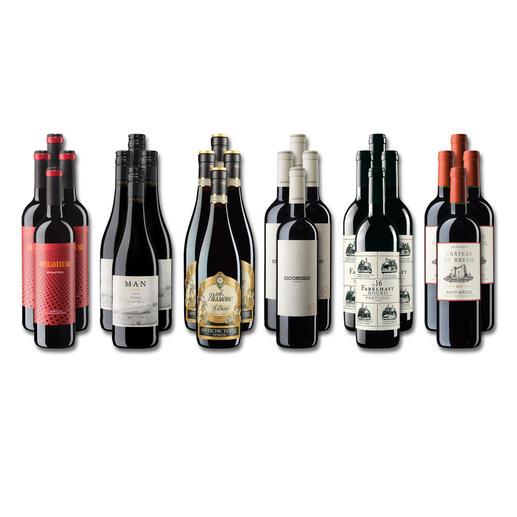 """Weinsammlung """"Die kleine Rotwein-Sammlung Frühjahr/Sommer 2019"""", 24 Flaschen - Wenn Sie einen kleinen, gut gewählten Weinvorrat anlegen möchten, ist dies jetzt besonders leicht."""
