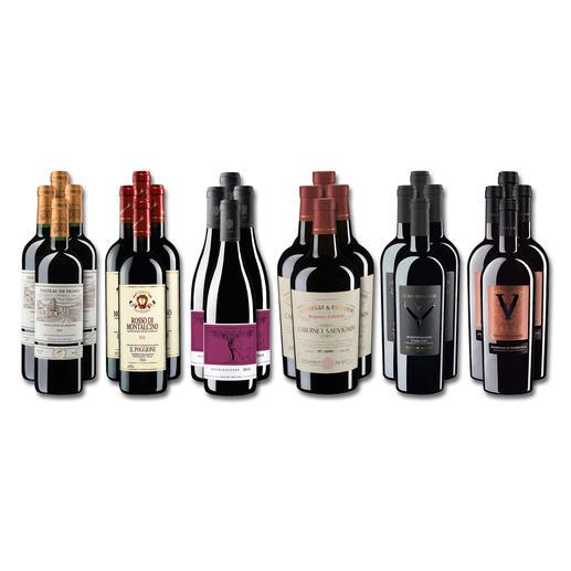 Weinsammlung - Die kleine Rotwein-Sammlung für anspruchsvolle Genießer Sommer 2019, 24 Flaschen Wenn Sie einen kleinen, gut gewählten Weinvorrat anlegen möchten, ist dies jetzt besonders leicht.