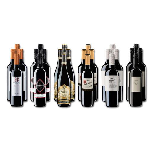 """Weinsammlung """"Die kleine Rotwein-Sammlung Winter 2019"""", 24 Flaschen - Wenn Sie einen kleinen, gut gewählten Weinvorrat anlegen möchten, ist dies jetzt besonders leicht."""