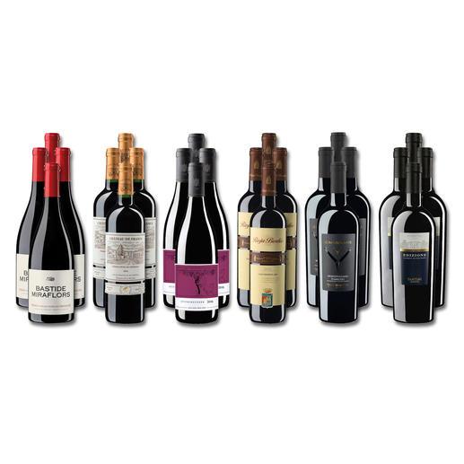 """Weinsammlung """"Die kleine Rotwein-Sammlung für anspruchsvolle Genießer Winter 2019"""", 24 Flaschen - Wenn Sie einen kleinen, gut gewählten Weinvorrat anlegen möchten, ist dies jetzt besonders leicht."""
