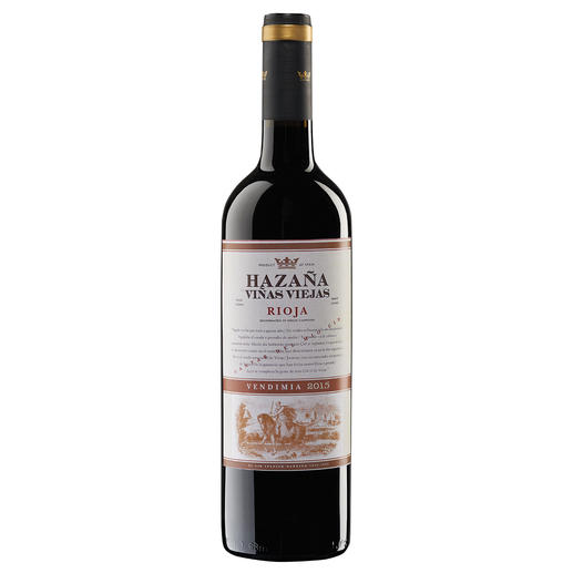 """Hazaña Viñas Viejas 2015, Bodegas Abanico, Rioja, Spanien """"Einfach eines der größten Schnäppchen in der Rioja, das man für Geld kaufen kann.""""  (Robert Parker über den Jahrgang 2014, www.robertparker.com, Interim – 07/2015)"""