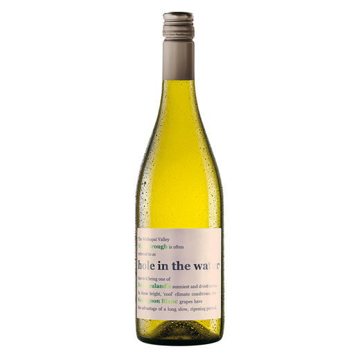 Hole in the Water Sauvignon Blanc 2019, Waihopai Valley, Konrad & Co Wines, Marlborough, Neuseeland Aus dem Filet-Weinberg der neuseeländischen Sauvignon Blancs.
